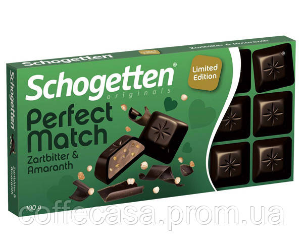 Черный шоколад Schogetten Perfect Match - Dark Chocolate & Amaranth 100 г