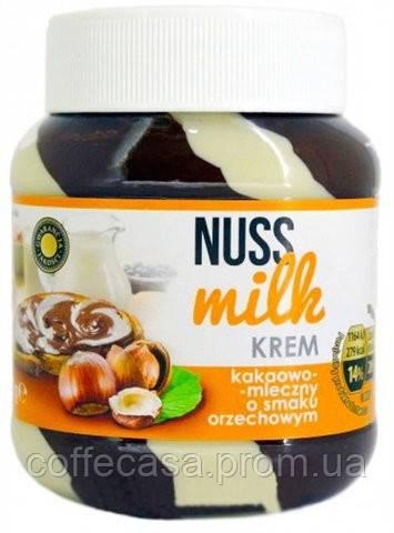Шоколадная паста Nuss Milk какао-молочная со вкусом ореха 400 г