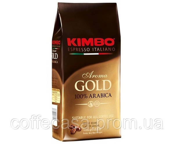 Кофе KIMBO Espresso Aroma gold 100% Arabica в зернах 1 кг