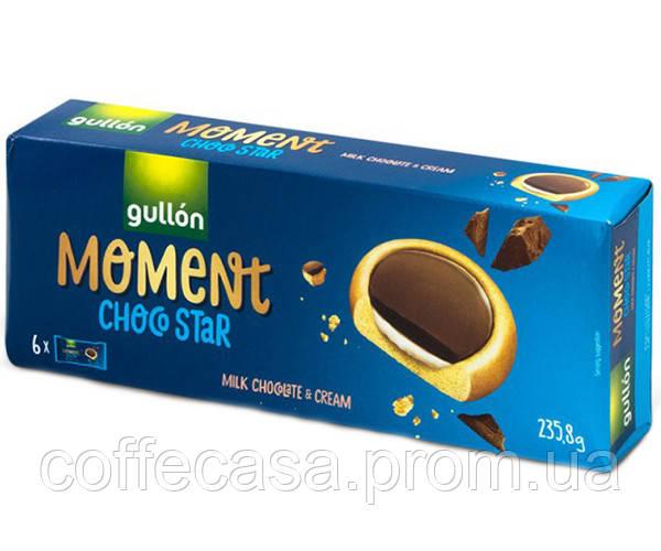 Печенье GULLON MOMENT ChocoStar с молочным шоколадом 235 г (8410376048391)