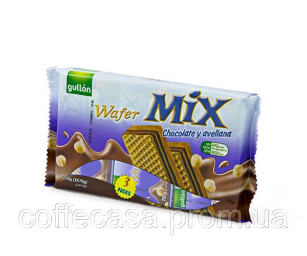 Вафли GULLON MIX Сhoсo-Avella шоколад и орех 180 г