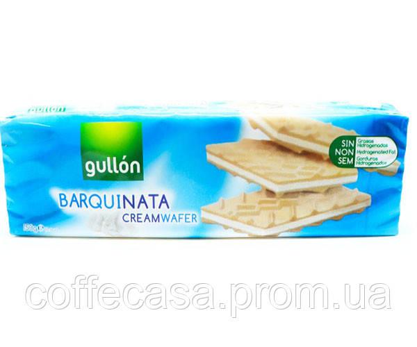 Вафли GULLON Barquinata со сливочным кремом 150 г (841037601553)