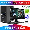 """Игровой ПК ZEVS PC4550 3 Ядра + GTX 650 + Монитор 19"""" + мышка + клавиатура"""
