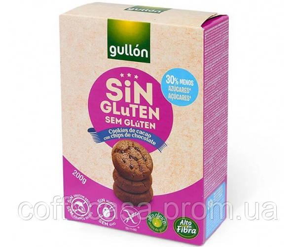 Печенье GULLON без глютена Cookies de Cacao sin Gluten 200 г (8410376017342)