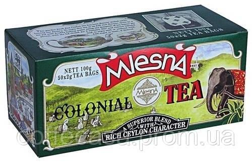 Черный чай Колониальный в пакетиках Млесна картон 100 г
