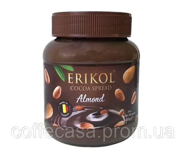 Шоколадная паста с миндалем Erikol 400 г