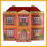 Іграшковий двоповерховий будиночок 6983 Мілана Будинок мрії 128 деталей 108.5-93-37 см в коробці, фото 2