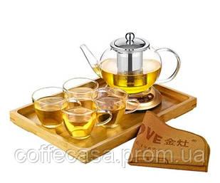 Чайный набор KAMJOVE Чайник 600 мл + 4 чашки 150 мл (A-308)