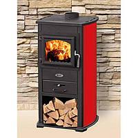Чугунная печь-камин BLIST ZAR (красный) 8 кВт печи чугунные отопительно варочные для дома и дачи