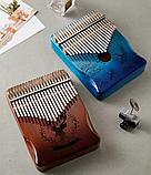 Калимба музыкальный инструмент на 17 язычков (премиум качество) - Розовый, фото 6