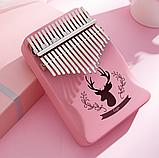 Калимба музыкальный инструмент на 17 язычков (премиум качество) - Розовый, фото 8