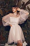 Нарядное платье-сетка с воланом, фото 2