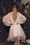 Нарядное платье-сетка с воланом, фото 3
