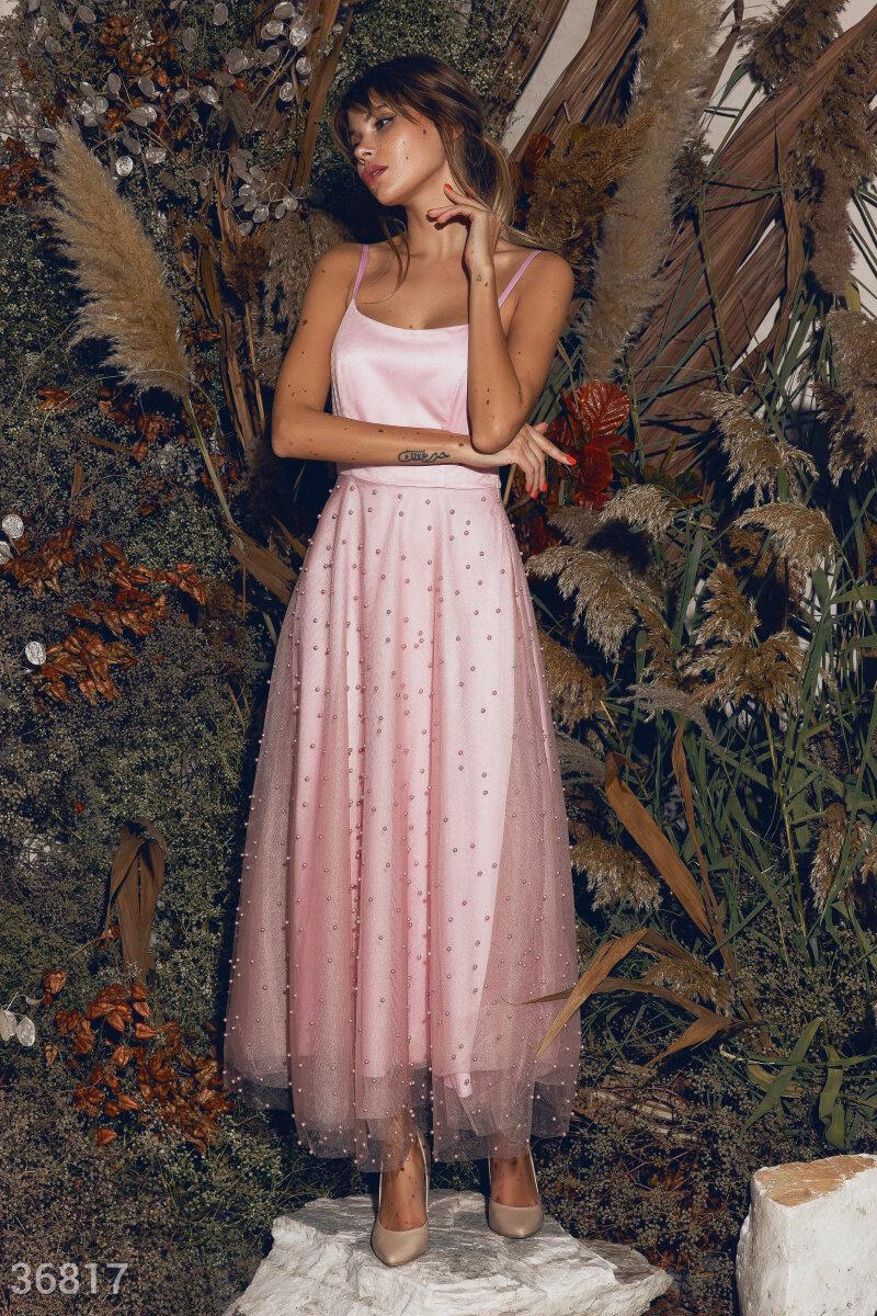 Нежное шелковое платье миди