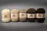 Пряжа шерстяная Vivchari Ethno-Premia  Long, Color No.05 темно- коричневый, фото 2