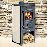 Чугунная печь-камин BLIST ZAR (бежевый) 8 кВт печи чугунные отопительно варочные для дома и дачи