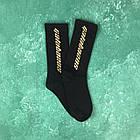 Носки Высокие Женские Мужские Calabasas Черные с бежевым лого 37-45, фото 2