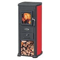 Чугунная печь-камин Blist Ekonomik Lux (красный) 7 кВт печи чугунные отопительно варочные для дома и дачи