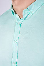 Рубашка 511F011 цвет Мятный, фото 3