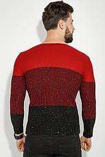 Джемпер 48P3297 цвет Бордово-черный, фото 2