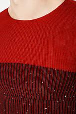Джемпер 48P3297 цвет Бордово-черный, фото 3