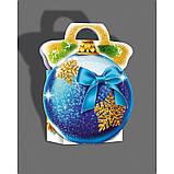 Новорічна коробка, Новорічний куля, 250 гр, Картонна упаковка для цукерок,, фото 2