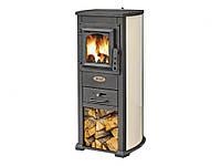 Чугунная печь-камин Blist Ekonomik Lux (бежевый) 7 кВт печи чугунные отопительно варочные для дома и дачи