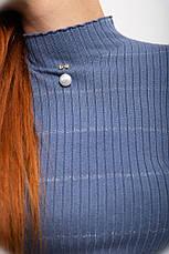 Гольф женский 131R8607 цвет Сизый, фото 3