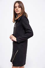 Пальто женское 153R970 цвет Черный, фото 3