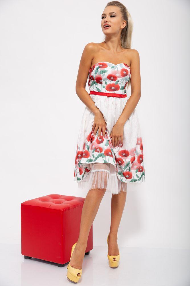 Платье женское 131R2770-2 цвет Бело-красный