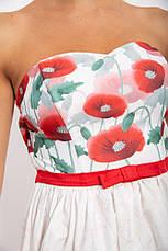 Платье женское 131R2770-2 цвет Бело-красный, фото 3