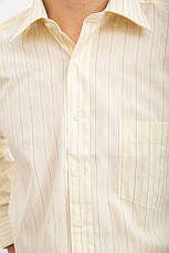 Рубашка Zeg №818-10 цвет Слоновая кость, фото 3