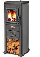 Чугунная печь-камин Blist Ekonomik Lux (серый) 7 кВт печи чугунные отопительно варочные для дома и дачи
