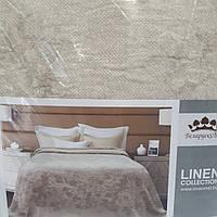 Льняное покрывало с бахромой (210 на 225 см), фото 1