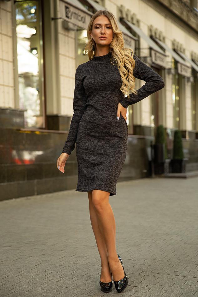 Платье 153R1082 цвет Темно-серый