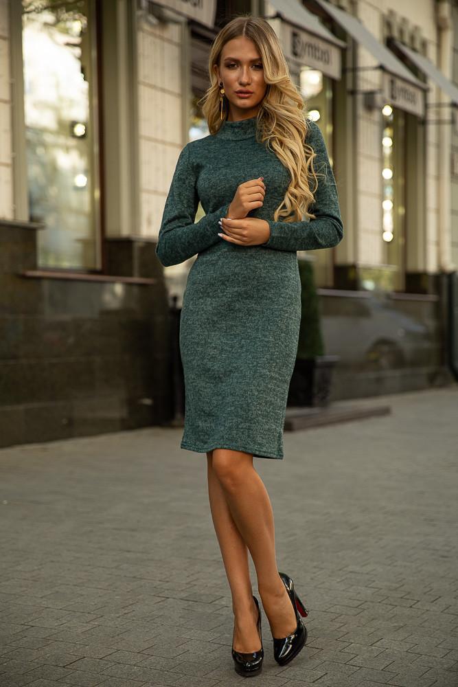 Платье 153R1082 цвет Темно-зеленый