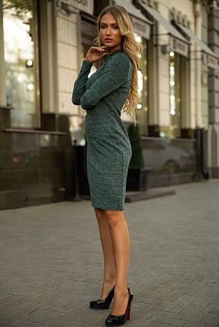 Платье 153R1082 цвет Темно-зеленый, фото 2