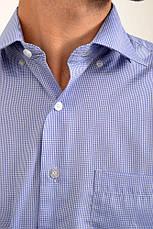 Рубашка 9021-31 цвет Сине-белый, клетка, фото 3