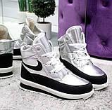 Зимние кроссовки - дутики на меху в стиле Nike  7304-1, фото 2
