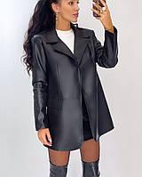 Піджак Doratti Нюд жіночий стильний з матовою еко шкіри на підкладці з кишенями Pdor256