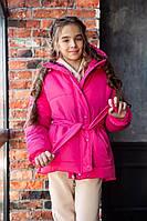 Детская зимняя куртка на синтепоне на змейке с капюшоном