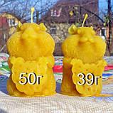 """Восковая свеча """"Хомяк"""" из натурального пчелиного воска, фото 2"""