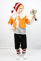 Карнавальный костюм для мальчика БУРАТИНО велюр, для 5-6 и 7-8 лет