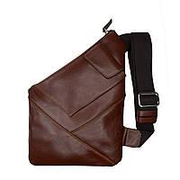 Чоловіча сумка-кобура Grande Pelle 310х210 мм глянцева шкіра теракот