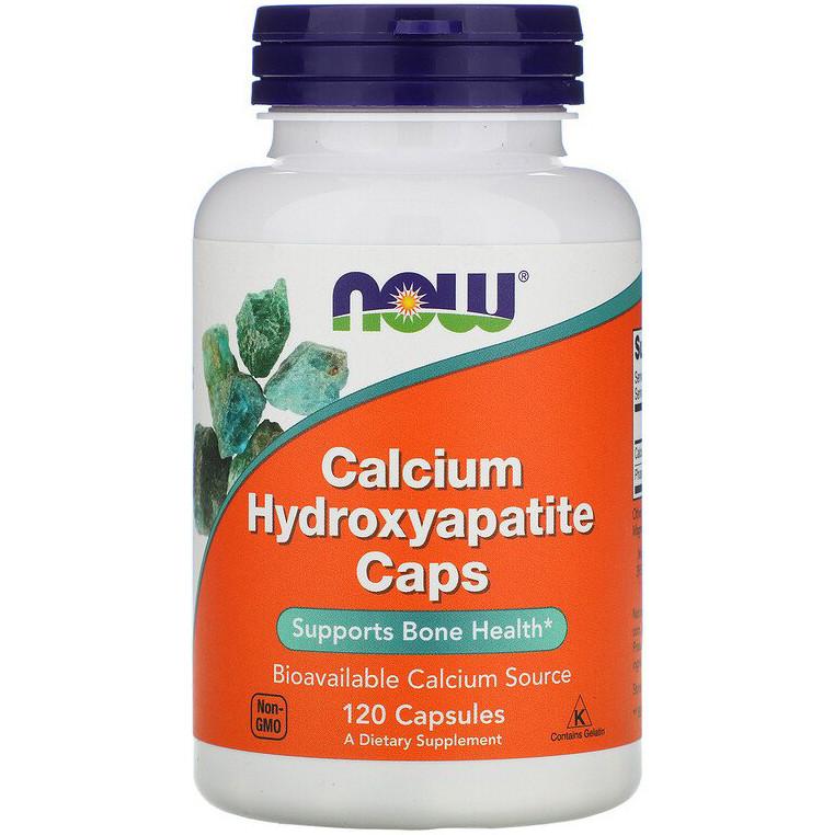 """Гидроксиапатит кальция NOW Foods """"Calcium Hydroxyapatite Caps"""" поддерживает здоровье костей (120 капсул)"""