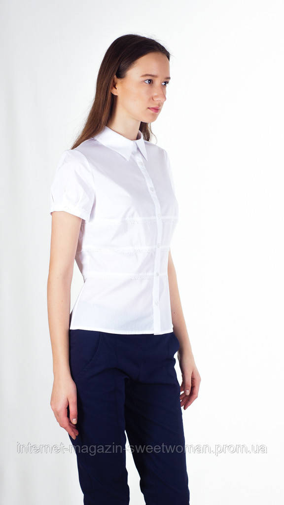 Блуза Sigma біла Potis & Verso