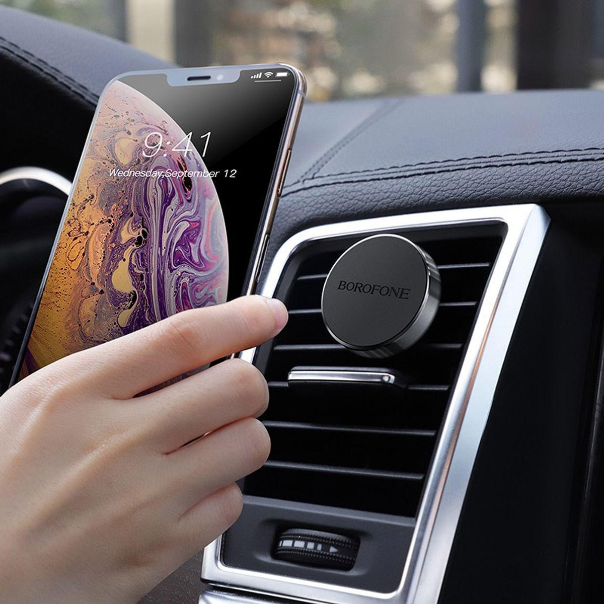 Автомобильный магнитный держатель для телефона Borofone BH6 черный