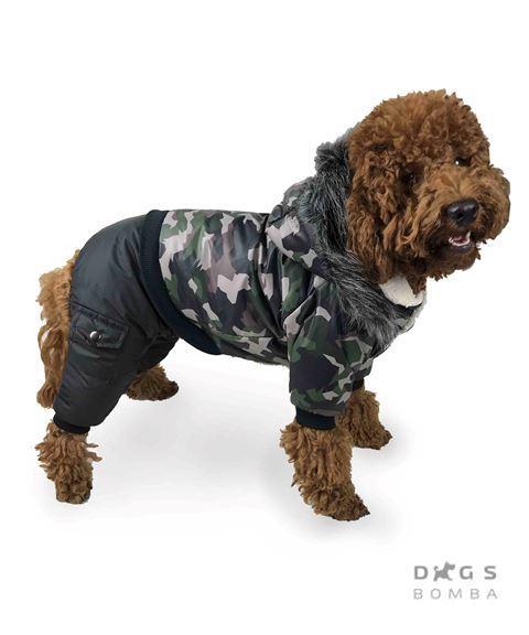 Зимний комбинезон для собак  Dogs Bomba AM-2 на меху милитари