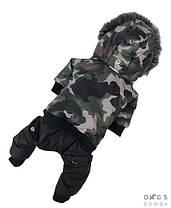 Зимний комбинезон для собак  Dogs Bomba AM-2 на меху милитари, фото 3