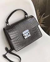 Женская Сумка кожаная черная сумка через плечо женская Женские сумки из кожи, фото 1